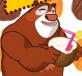 Gấu mập bán trái cây