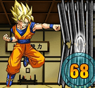 Goku tập luyện