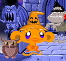 Chú khỉ buồn halloween