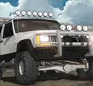 Đậu xe jeep trên phố