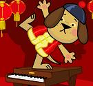 Gấu chơi piano