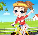 Girl xinh đạp xe