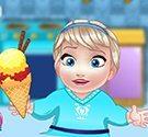 Elsa làm kem tại nhà