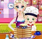 Elsa và Rosy làm bánh pancake
