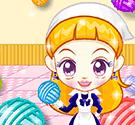 Cuộn len sắc màu