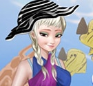 Elsa đi biển
