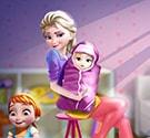 Elsa sinh em bé 2