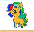 Tô màu ngựa con 4