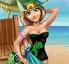 Rapunzel du lịch biển