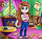 Angela dọn phòng – Kitty Room Prep