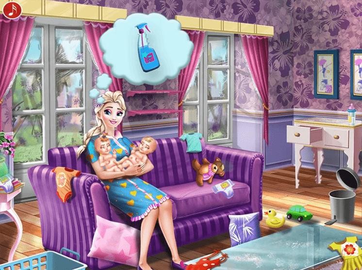 Game-gia-dinh-elsa-ice-queen-twins-family-day-hinh-anh-1
