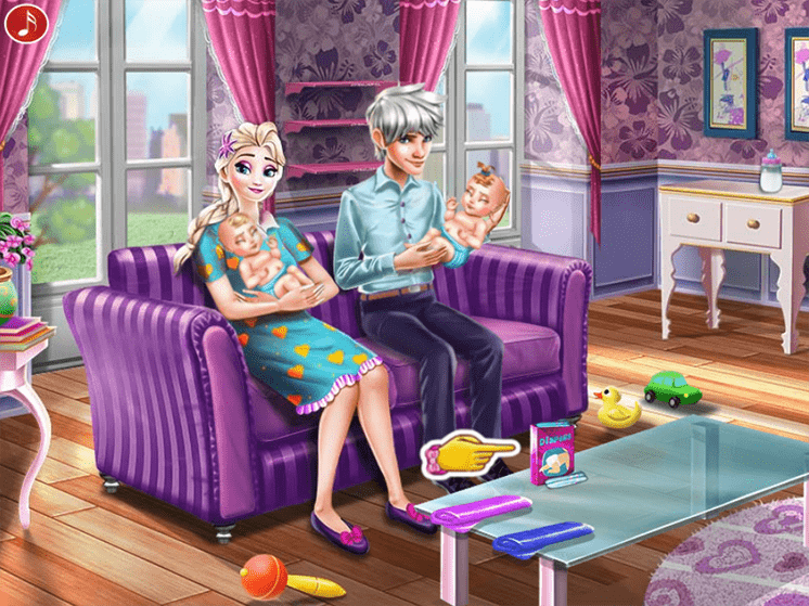 Game-gia-dinh-elsa-ice-queen-twins-family-day-hinh-anh-2