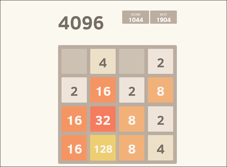 game 4096 online hinh anh 2