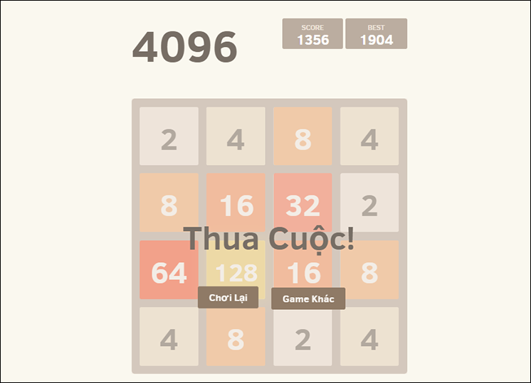 game 4096 online hinh anh 3