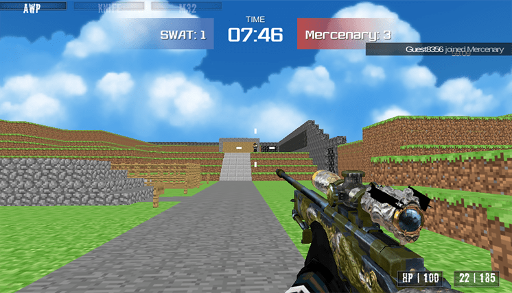 game blocky combat swat hinh anh 3