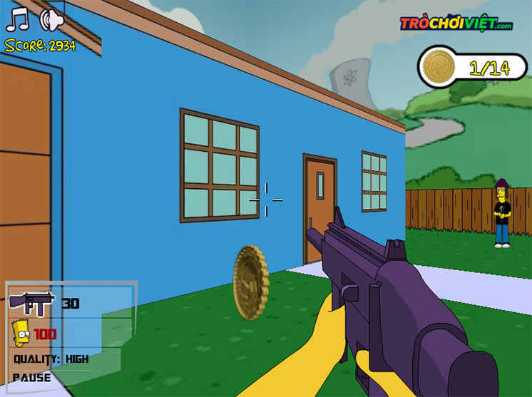 game simpsons dau sung 3d hinh anh 2