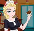 Elsa làm kem cuộn