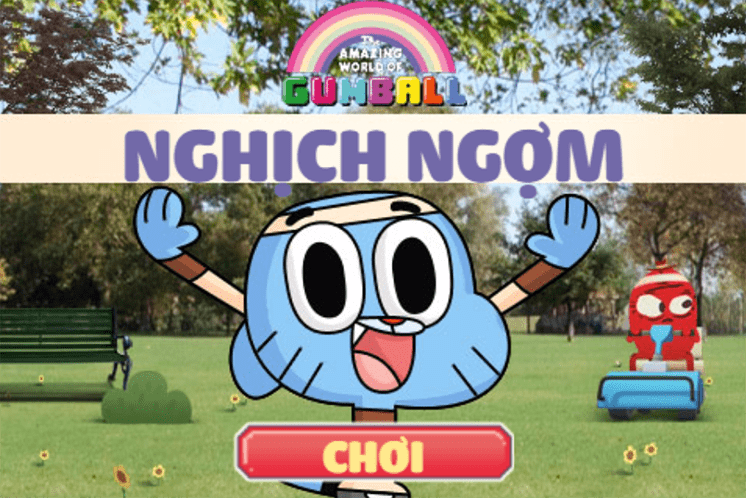 tro choi gumball nghich ngom